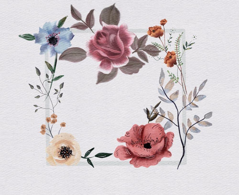 Floral Frame - image 1 - student project