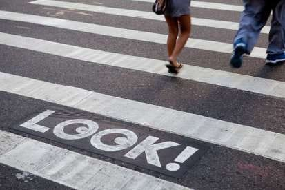 Texting in the Crosswalk - image 2 - student project