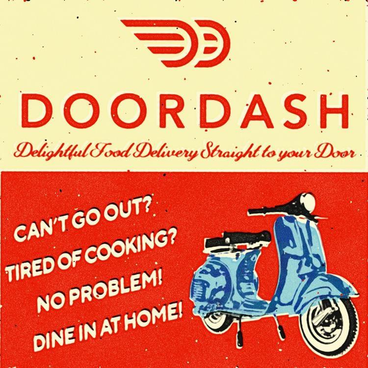 DoorDash Retro Ad - image 3 - student project
