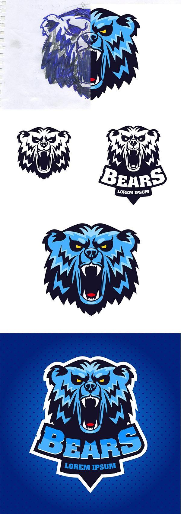 Blue Bear sports logo - image 1 - student project