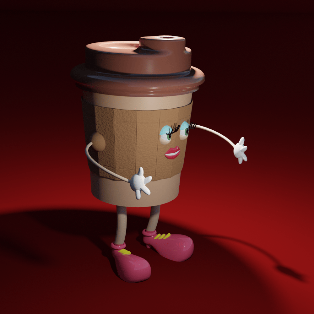 Coffee Cup Lady - image 2 - student project