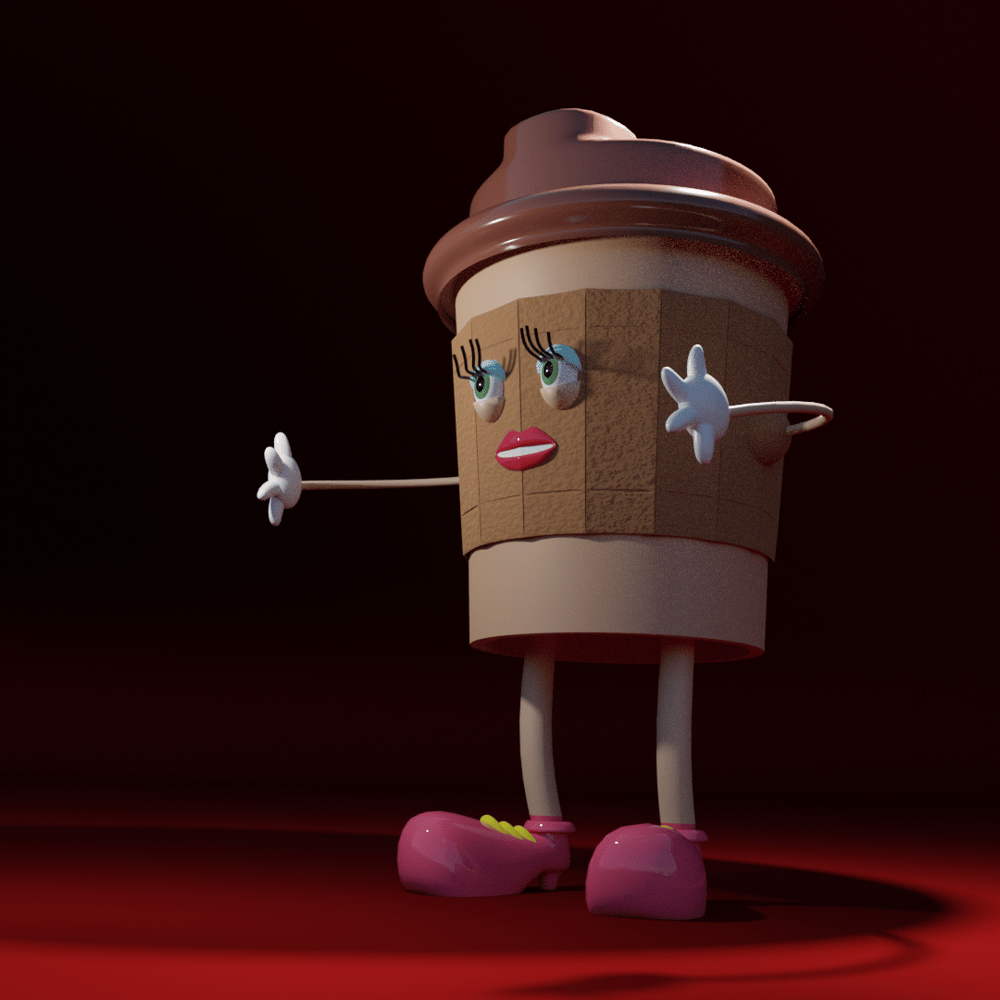 Coffee Cup Lady - image 1 - student project