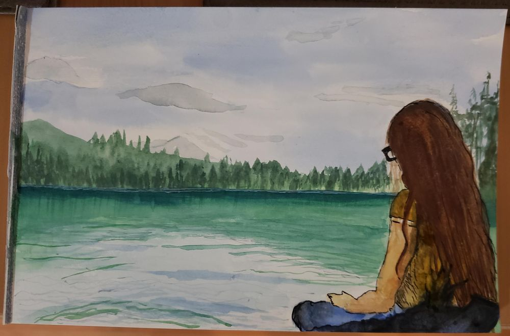 """Trying Landscapes - """"This watercolor approach is truly meditative."""" - image 1 - student project"""