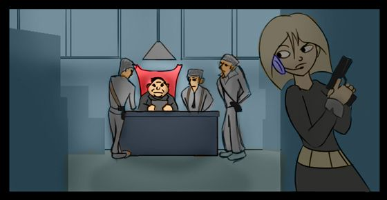 Secret Agent Storyboard Project 1 - image 3 - student project