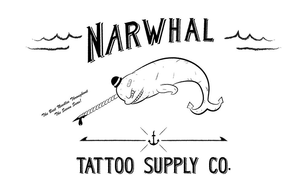Narwhal Tattoo Supply Co. - image 7 - student project