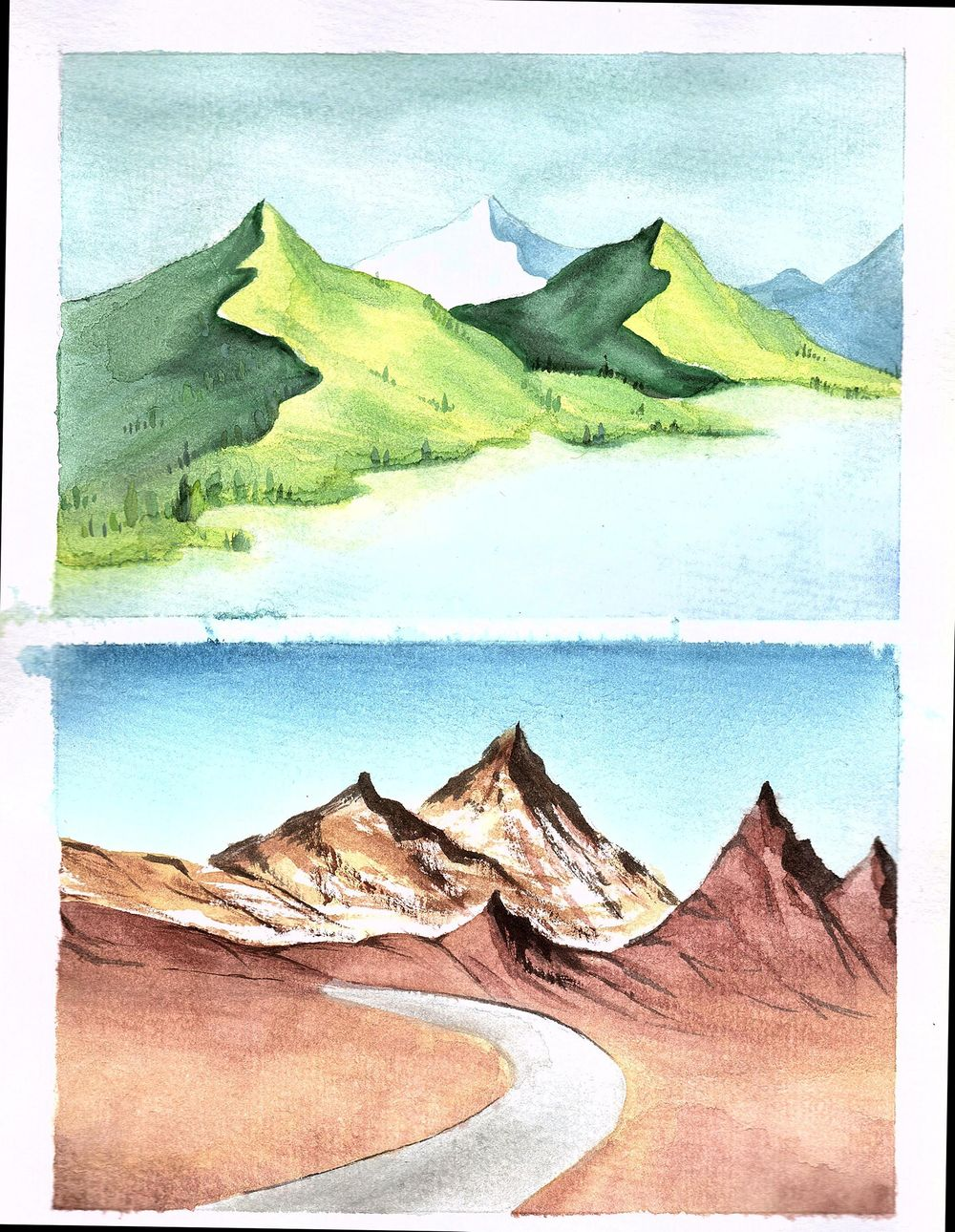 Watercolor Paintings - image 1 - student project