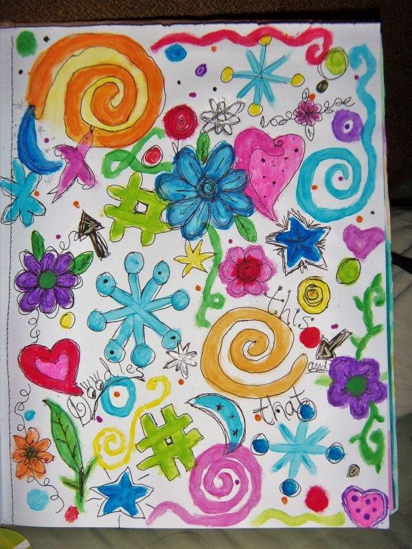 Sketchbook Doodle practice pages - image 1 - student project