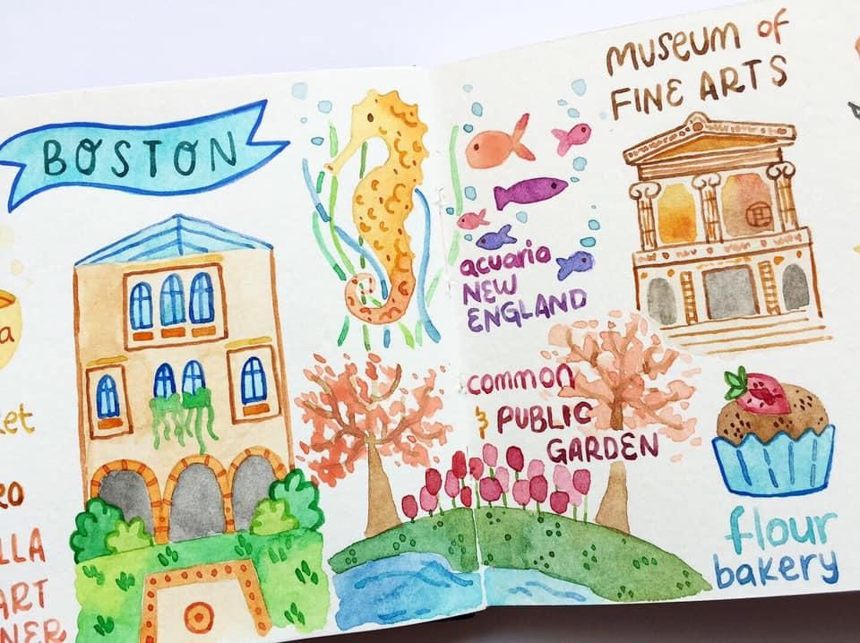 Draw my Travel to Boston - image 3 - student project