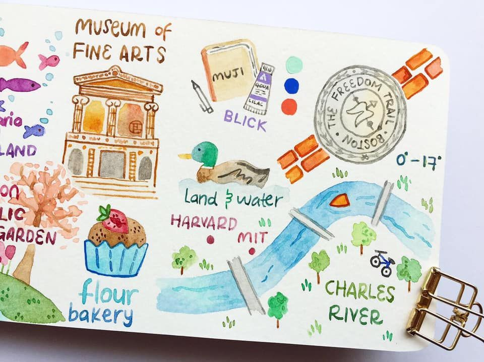 Draw my Travel to Boston - image 4 - student project