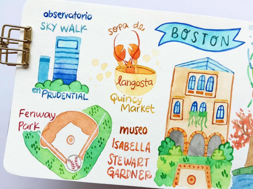 Draw my Travel to Boston - image 2 - student project