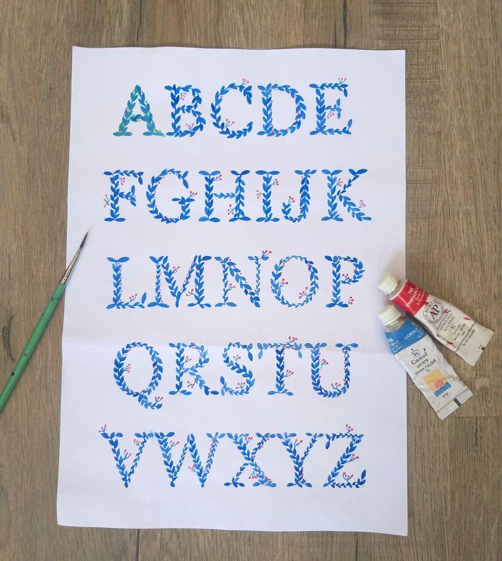 Watercolour Alphabets - image 1 - student project