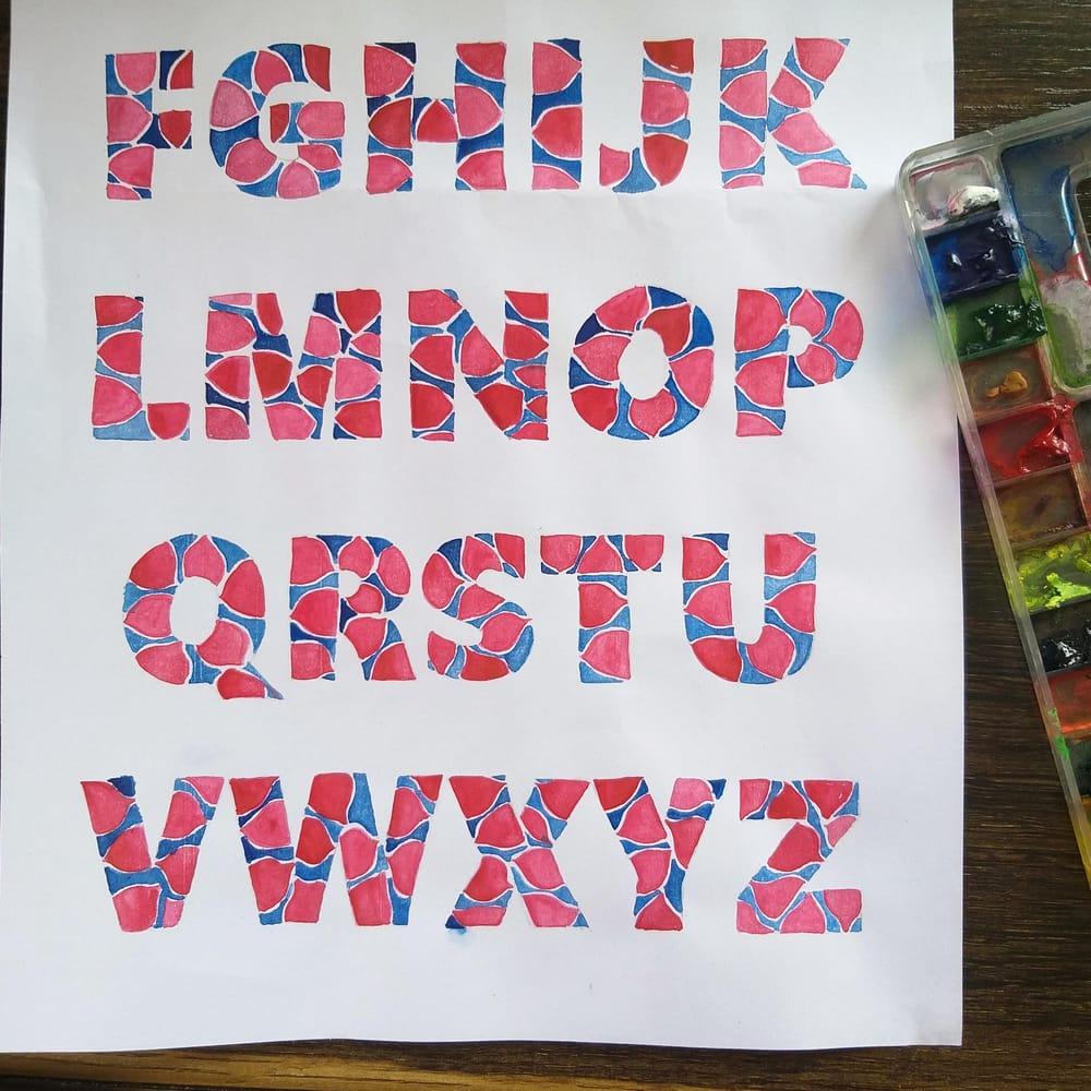 Watercolour Alphabets - image 3 - student project
