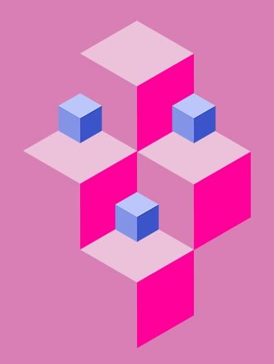 Photoshop: Isometric cube pattern - image 3 - student project