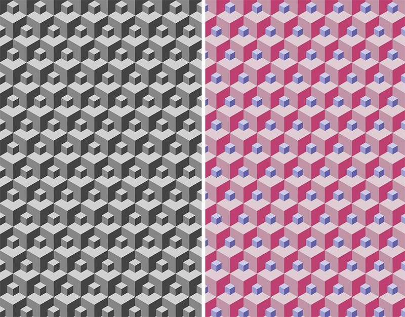 Photoshop: Isometric cube pattern - image 1 - student project