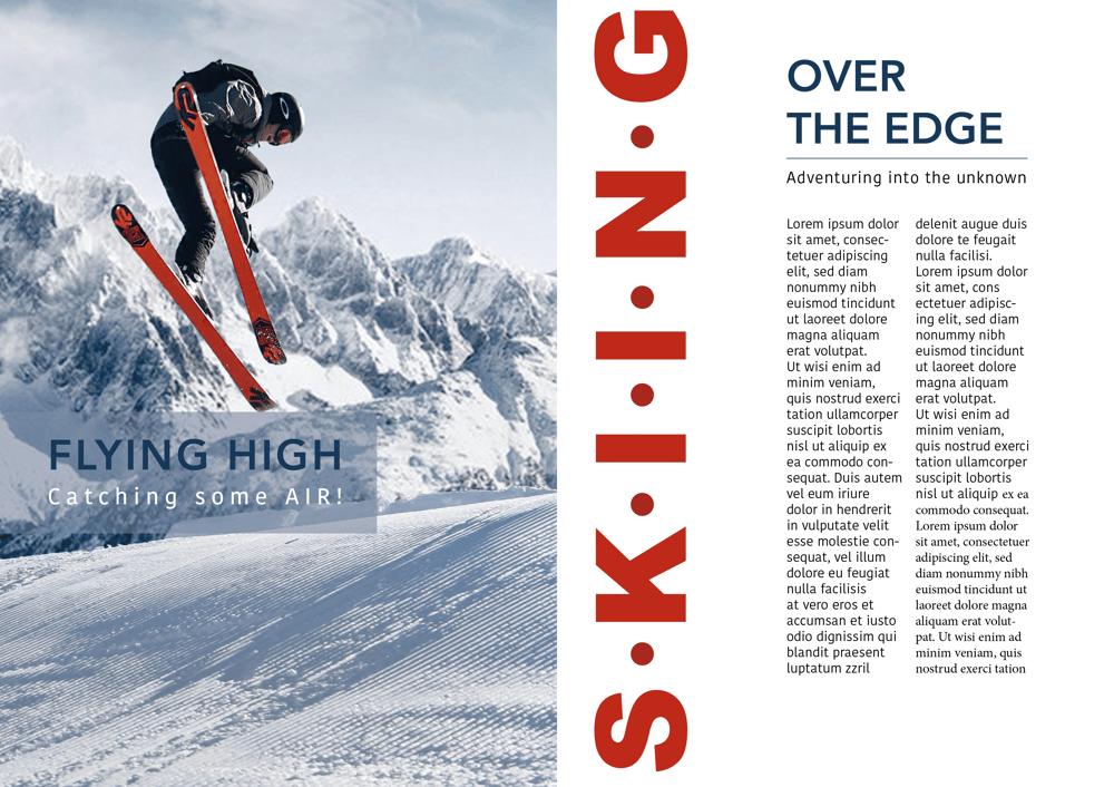 Ski Leaflet - image 2 - student project