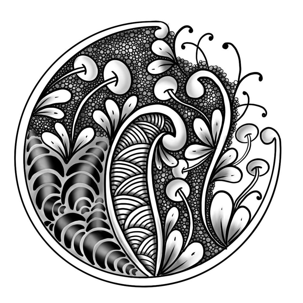 Zentangle project - image 1 - student project