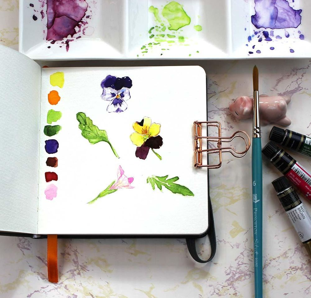 Botanical Sketchbook Project - image 2 - student project