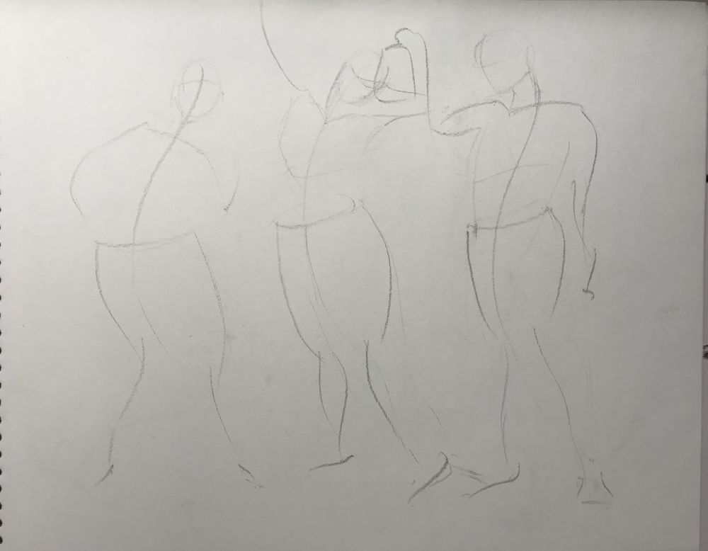 Gesture drawing assignment - image 3 - student project