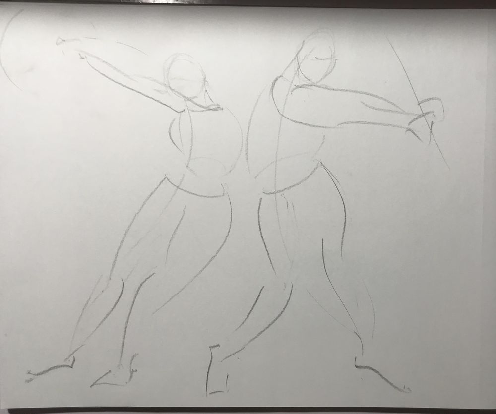 Gesture drawing assignment - image 2 - student project