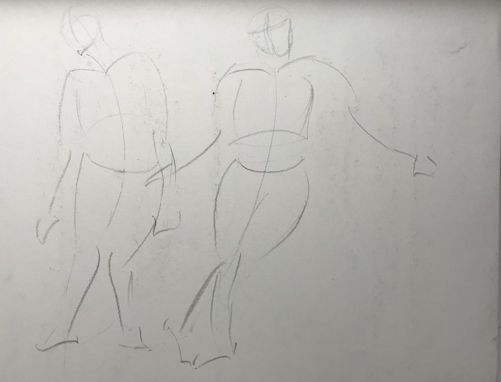 Gesture drawing assignment - image 1 - student project