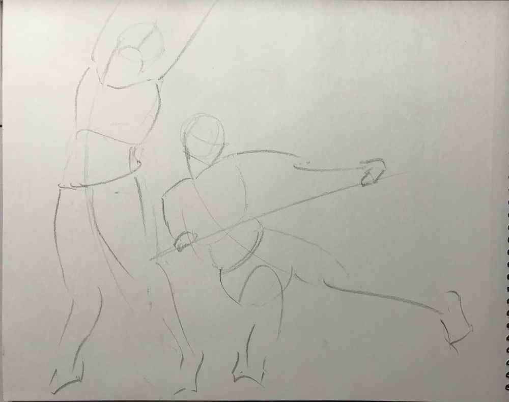 Gesture drawing assignment - image 4 - student project