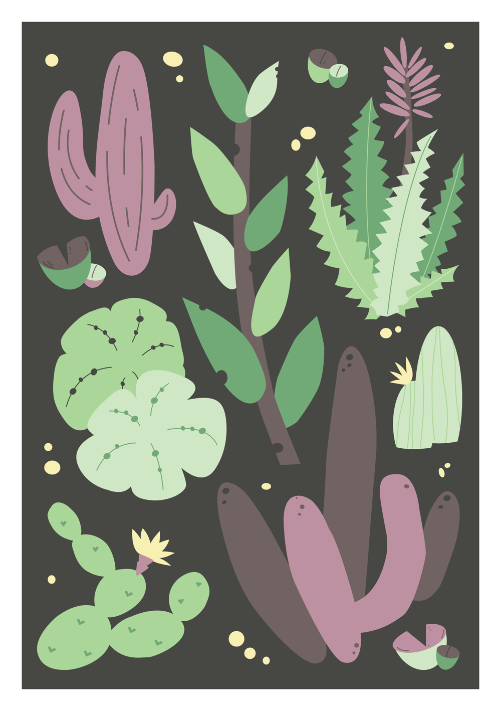 Blooming Cactus Composition - image 1 - student project