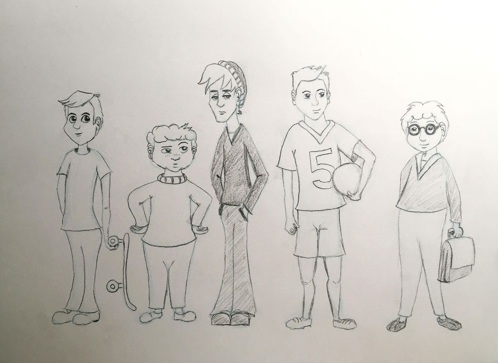 Assignment - 5 Boy Characters - image 1 - student project