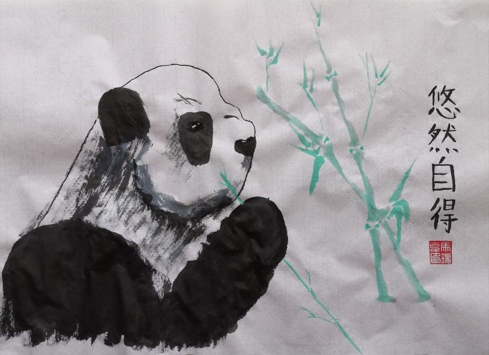 Chinese Panda paintings - image 2 - student project
