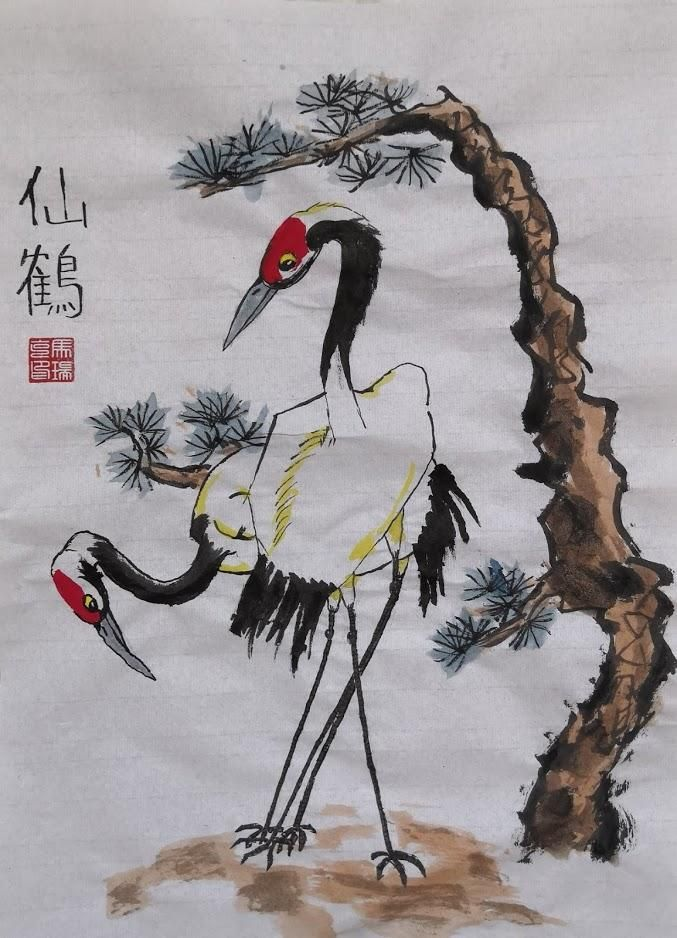 Chinese Red Crowned Crane - image 1 - student project