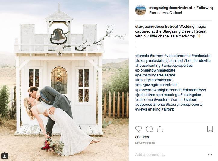 Upload your ideal Instagram Post - @stargazingdesertretreat - image 2 - student project