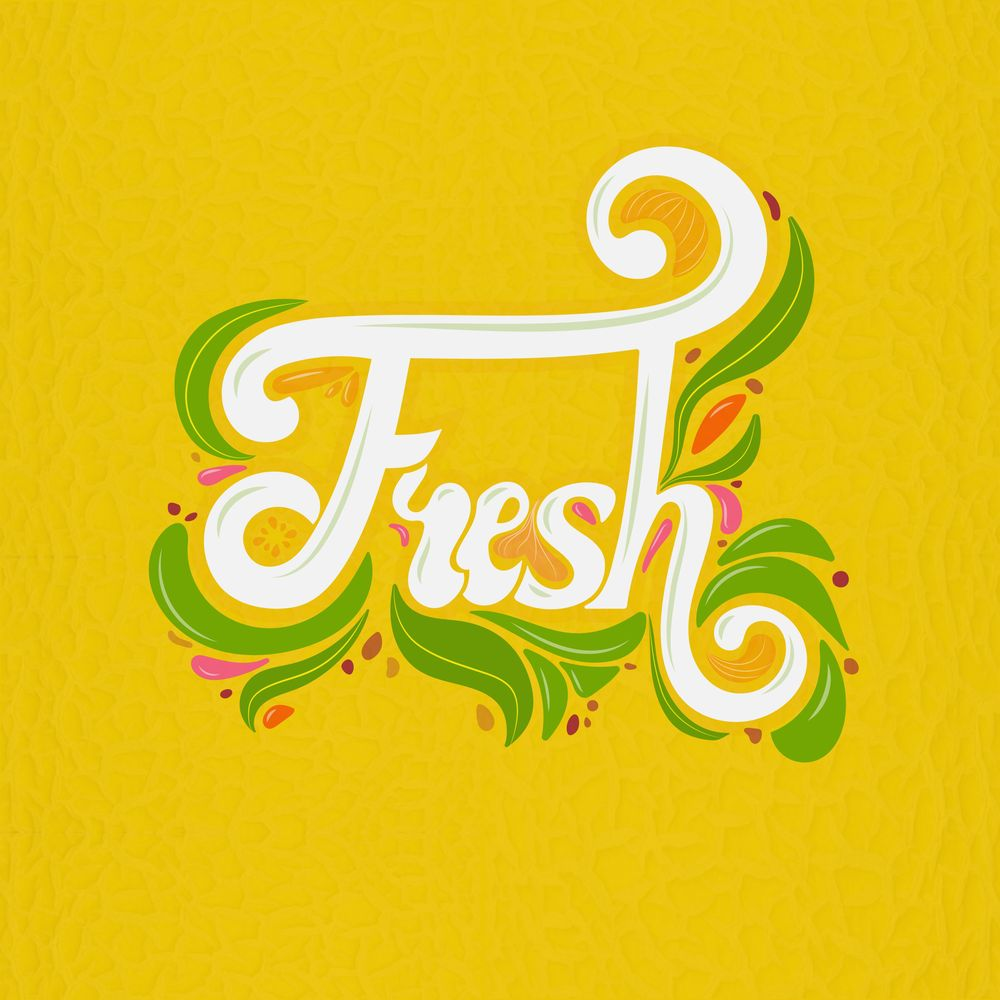 Script lettering (Fruit inspired) - image 1 - student project