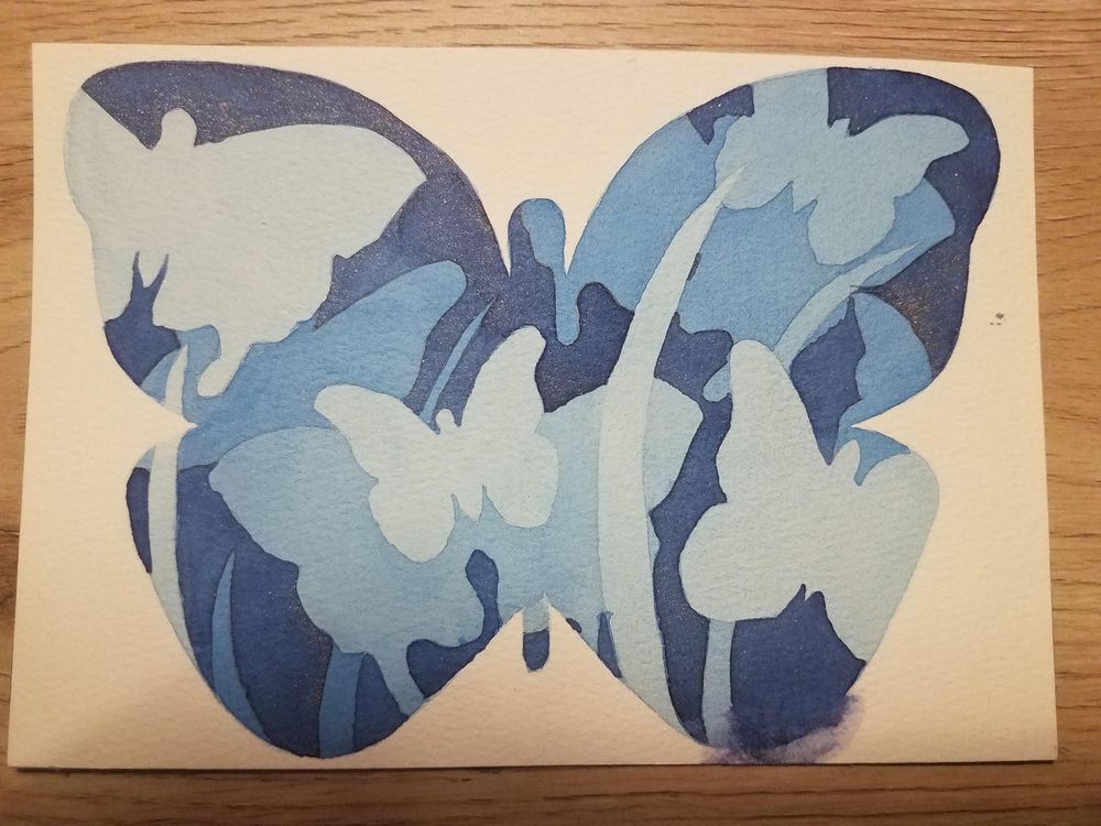 Negative space bookmark - image 1 - student project