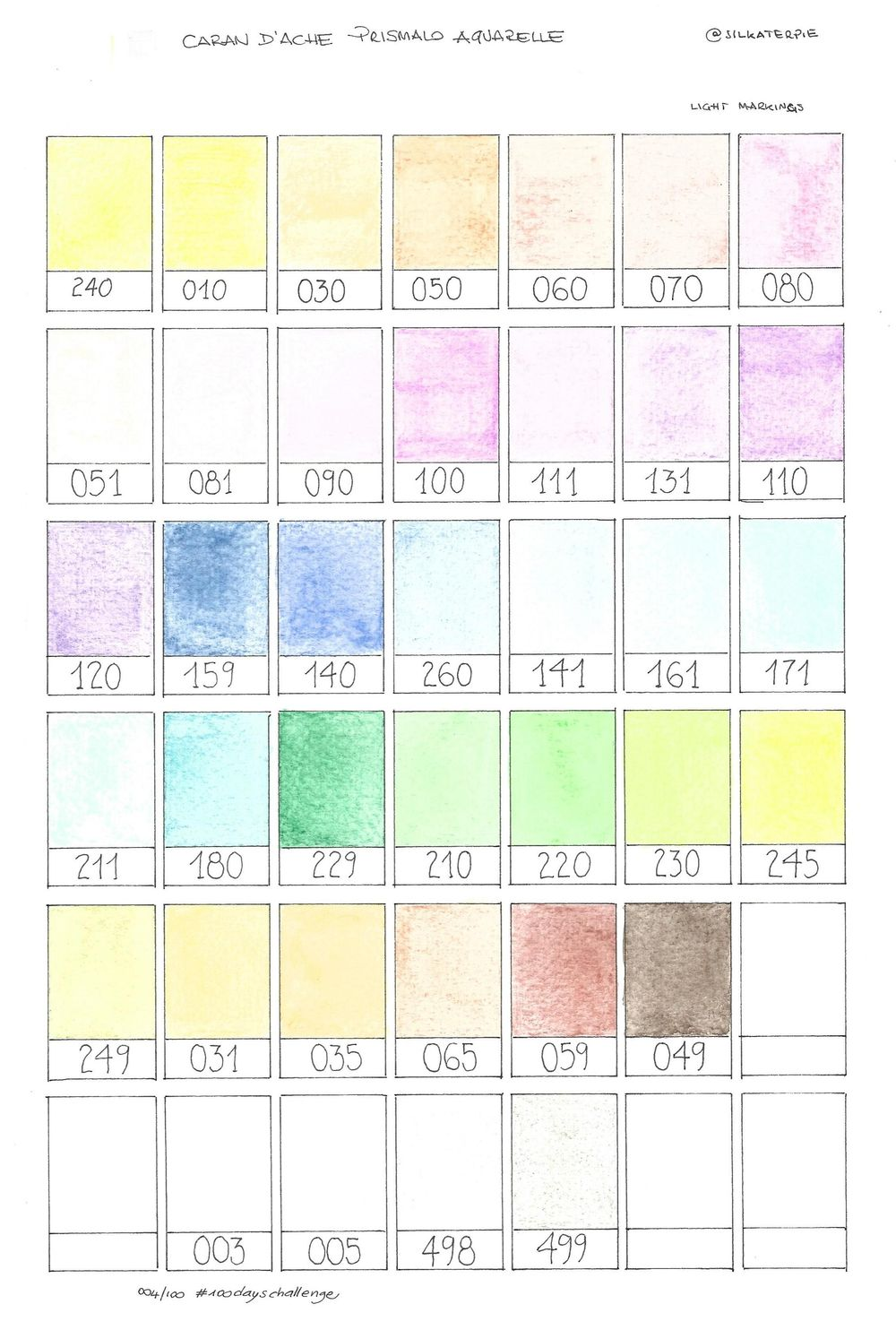 1. Swatches with watercolor pencils - image 2 - student project