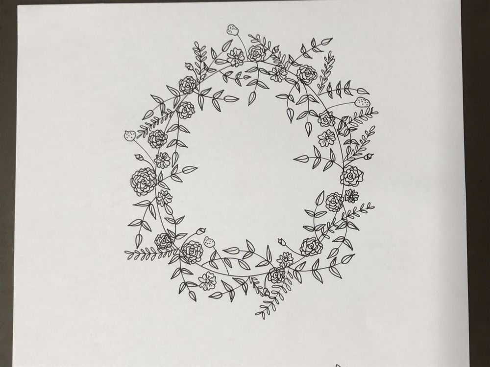 Floral Wreath and Botanical Garden - image 1 - student project