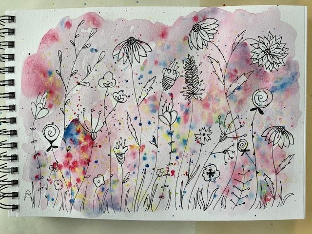 Floral Illustration in Watercolour & Ink - image 1 - student project