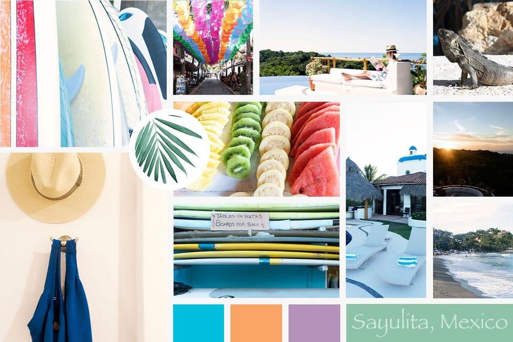 Sayulita Inspired Moodboard - image 1 - student project
