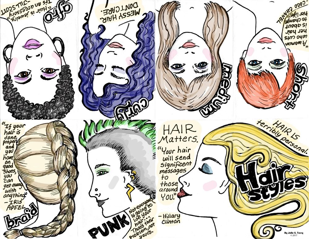 Hair Styles Zine - image 1 - student project