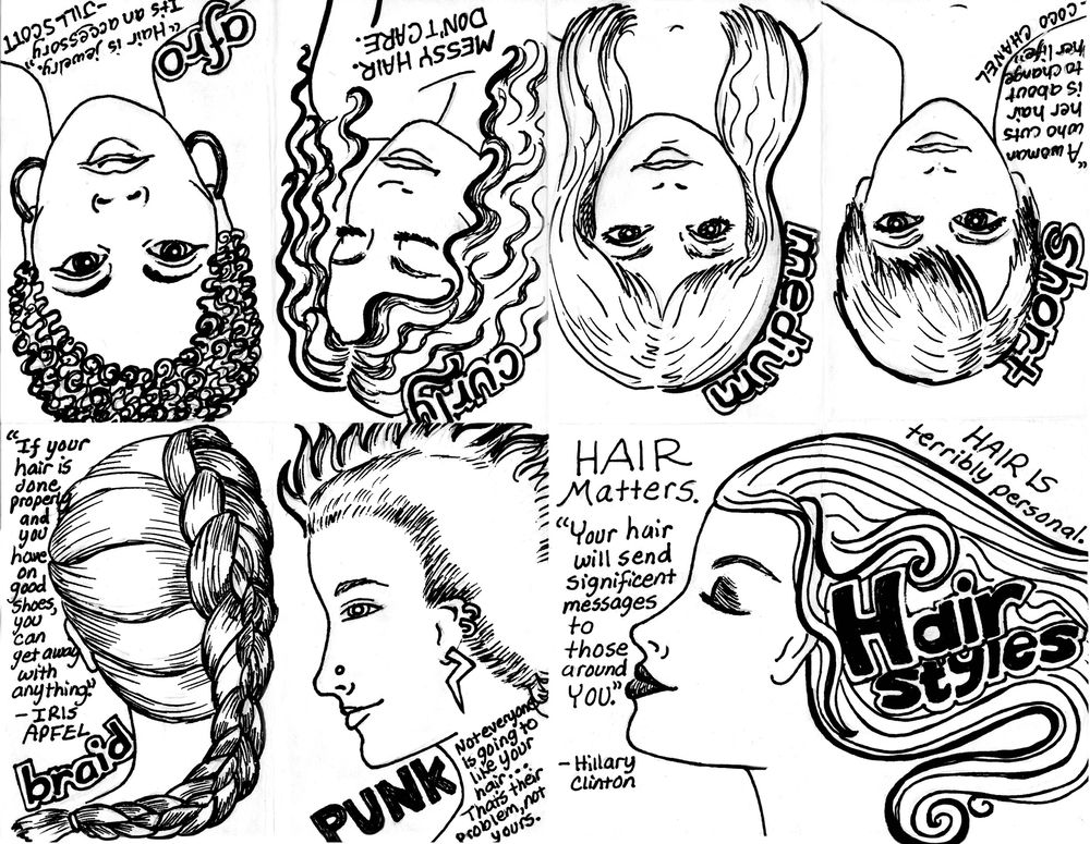 Hair Styles Zine - image 3 - student project