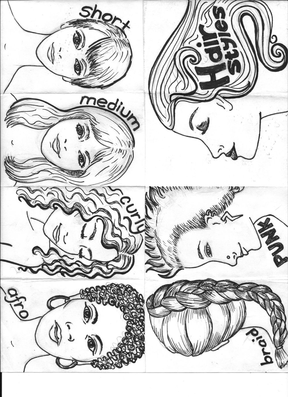 Hair Styles Zine - image 4 - student project