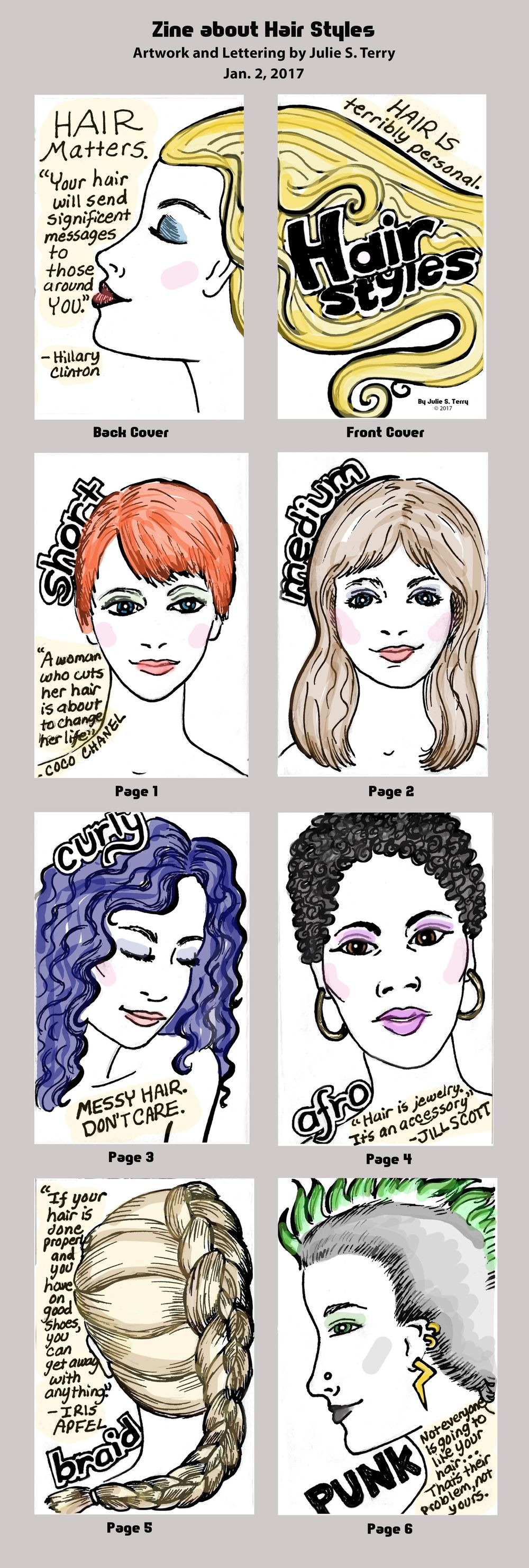 Hair Styles Zine - image 2 - student project