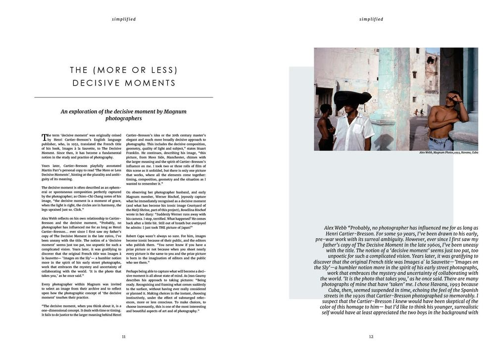 Simplified - magazine spread - image 1 - student project