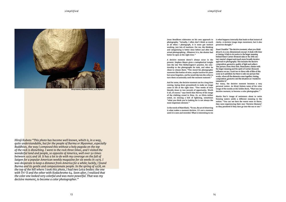 Simplified - magazine spread - image 2 - student project