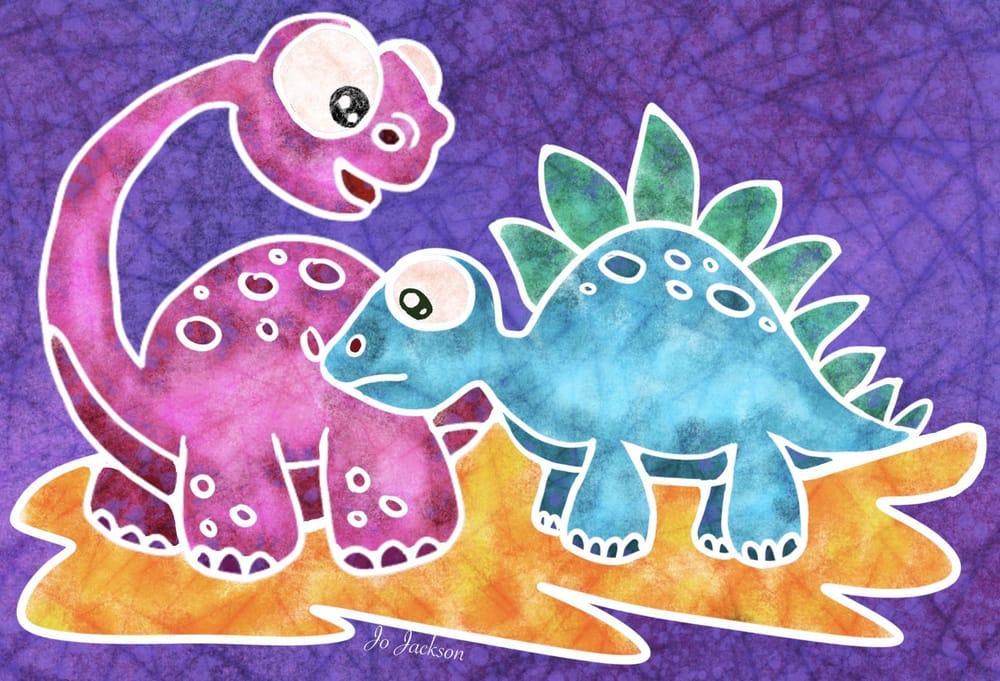 Batik Dinosaurs - image 1 - student project