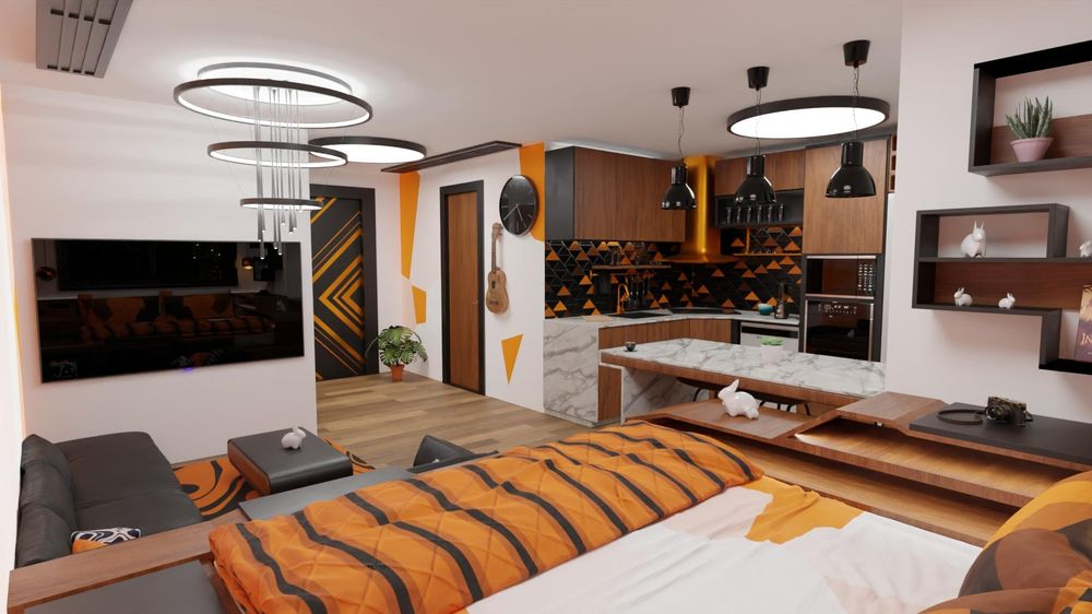apartments interior design - image 9 - student project
