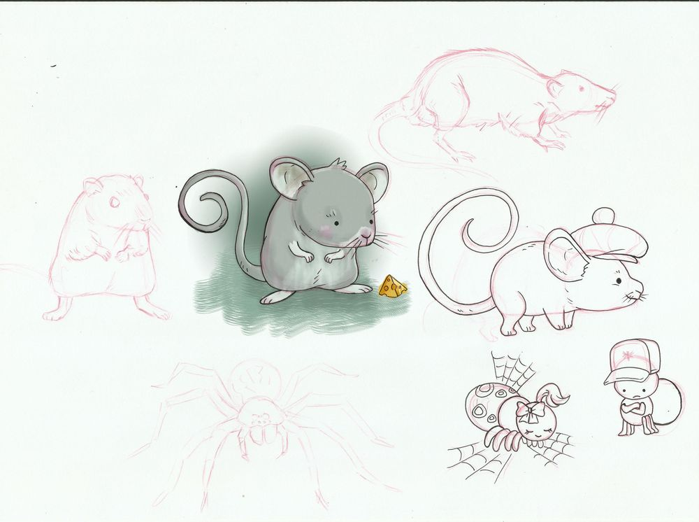 cute rat and spider - image 1 - student project