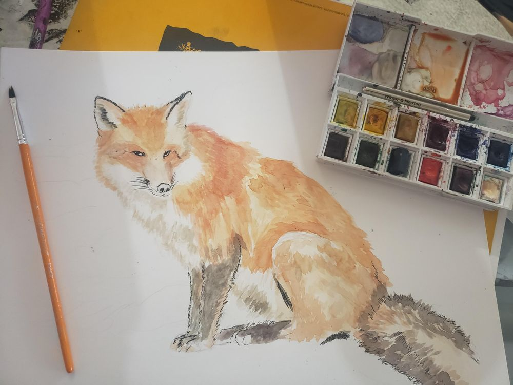 Mixed Media fox - image 3 - student project
