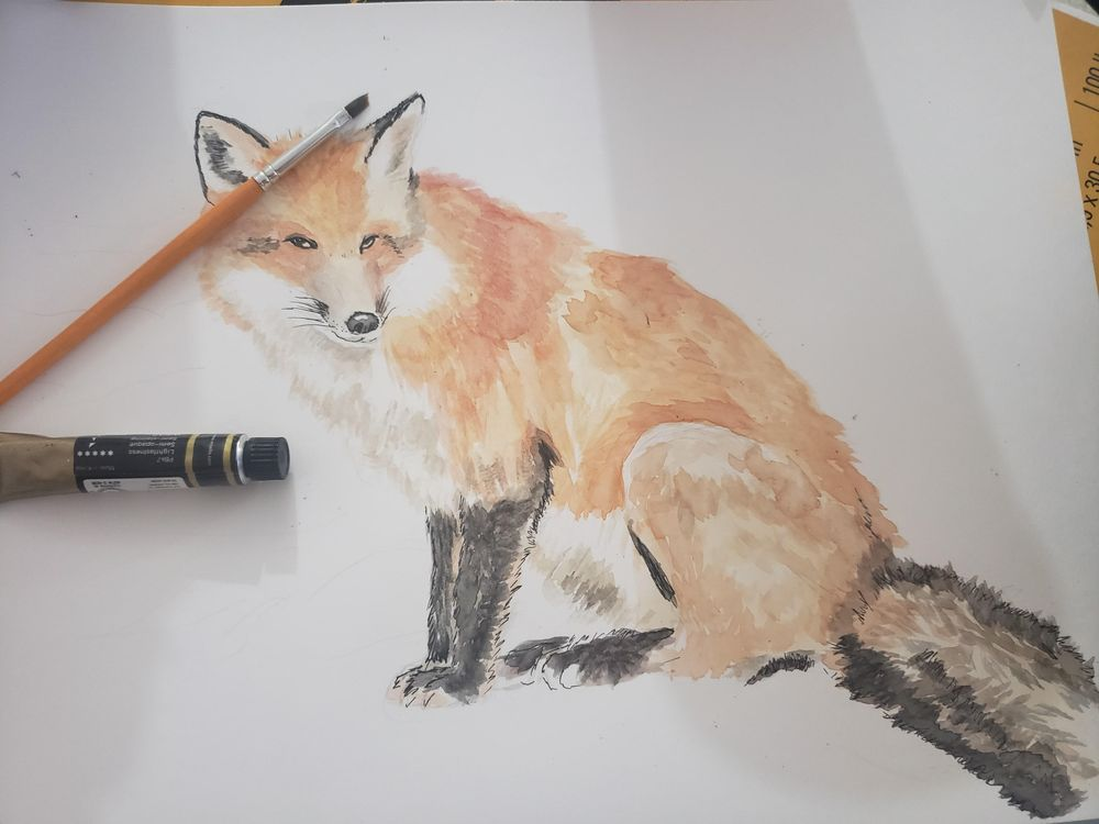 Mixed Media fox - image 4 - student project