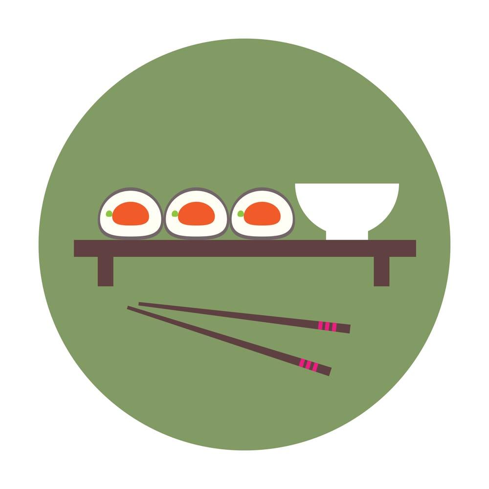 Illustrator flat design: sushi - image 1 - student project