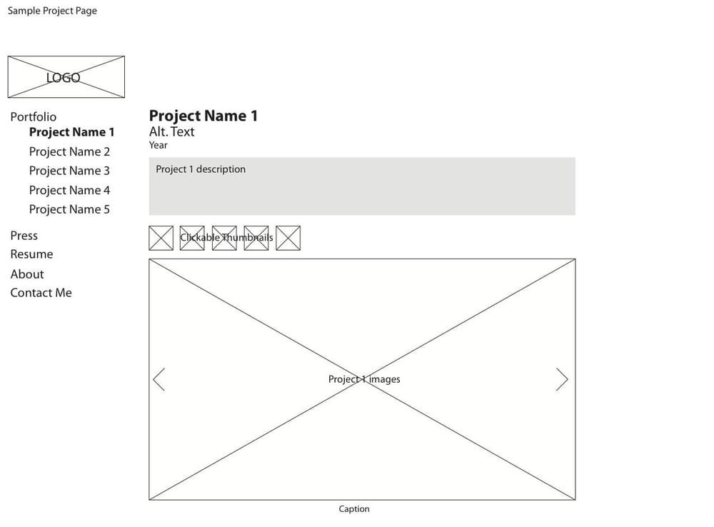 Portfolio Site - image 2 - student project