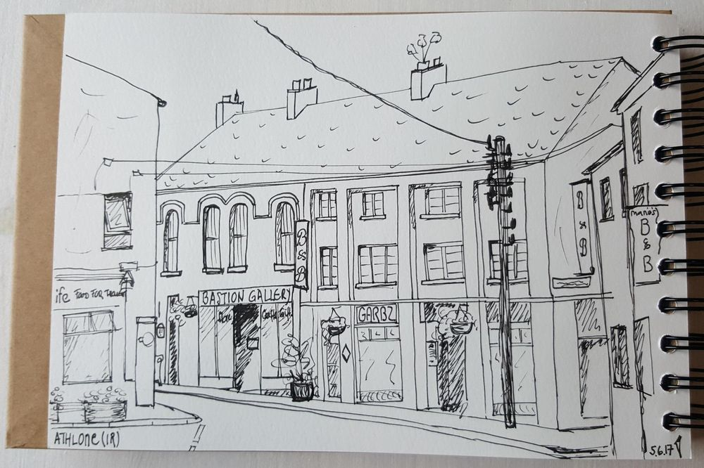 Sketching Athlone (Ireland) - image 2 - student project